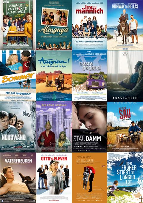 Eine Plakatsammlung einiger Kinofilme, an denen der Münchner Schauspieler Arnd Schimkat mitgewirkt hat.